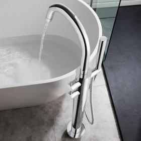 Crosswater Kai Lever Floorstanding Thermostatic Bath Shower Mixer With Kit