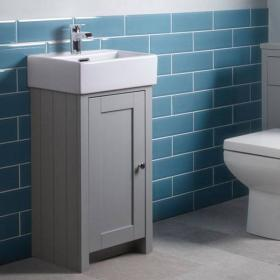 Tavistock Lansdown Pebble Grey Cloakroom Unit & Basin
