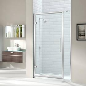 Merlyn 8 Series Hinge Shower Door With 210mm Inline Panel