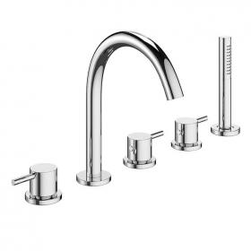 Crosswater Mike Pro Chrome Bath 5 Hole Set