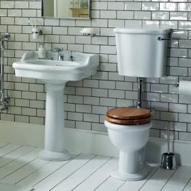 Heritage New Victoria Low Level Toilet & Basin Set