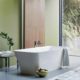 Clearwater Palermo Grande Clear Stone Freestanding Bath