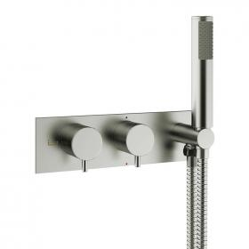 Crosswater MPRO Brushed Stainless Steel Bath Shower Valve With Kit