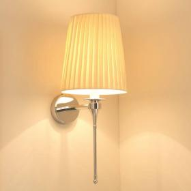 Imperial Pendant Light with Tall Pleated Cream Cotton Shade