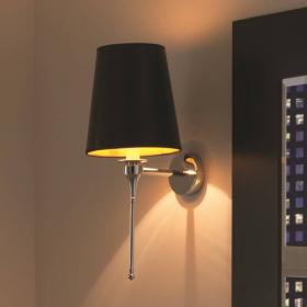 Imperial Pendant Light with Black Leatherette Shade