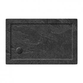 Zamori 1100 x 900mm Rectangle Slate Effect 35mm Shower Tray & Waste