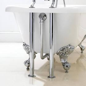 Phoenix Traditional Exposed Roll Top Bath Pack - Chrome