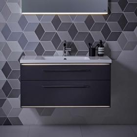Roper Rhodes Scheme 1000mm Matt Carbon Wall Mounted Vanity Unit & Basin
