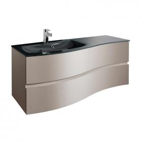 Bauhaus Svelte 120 Matt Coffee Vanity Unit & Charcoal Glass Basin