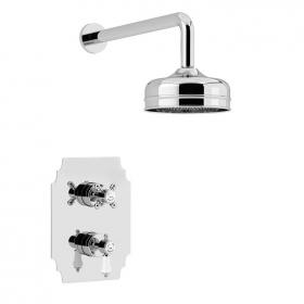 Heritage Glastonbury Shower Valve With Premium Fixed Head