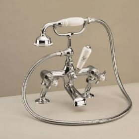 St James Deck Mounted Cranked Bath Shower Mixer - England Handle
