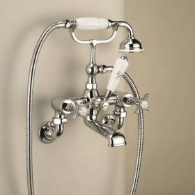 St James Wall Mounted Bath Shower Mixer - England Handle