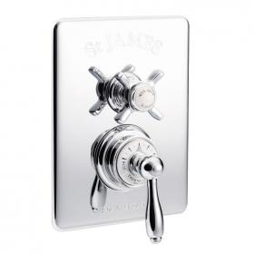 St James Concealed Thermostatic Shower Valve With Diverter - England Handle