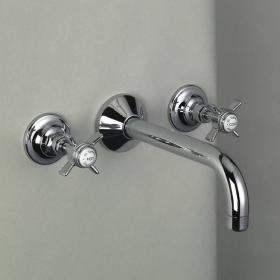 St James Wall Mounted Basin Mixer With Spout - England Handle