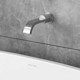 Victoria + Albert Soriano 42 Brushed Steel Bath Spout