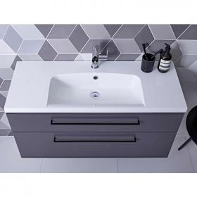 Roper Rhodes Scheme 800mm Matt Carbon Wall Mounted Vanity Unit & Basin