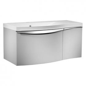 Roper Rhodes Serif 900mm Gloss Light Grey Wall Mounted Vanity Unit & Basin