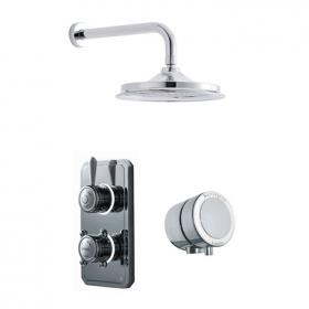 Burlington Classic 1910 Digital Bath/Shower Valve With Head & Overflow Bath Filler