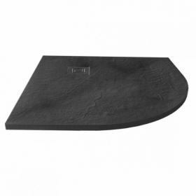 Merlyn Truestone Slate Black 900 x 900mm Quadrant Shower Tray & Waste