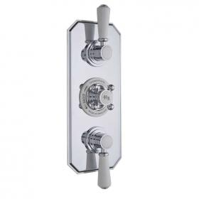Hudson Reed Topaz Triple Concealed Thermostatic Shower Valve With Diverter