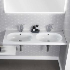 Roper Rhodes Theme 1210mm Wall Mounted Double Basin