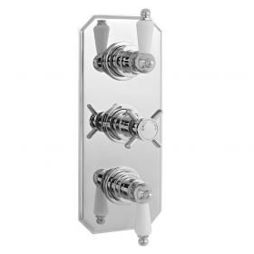 Ultra Edwardian Concealed Thermostatic Triple Shower Valve