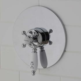 Imperial Westminster Thermostatic Shower Valve With White Controls
