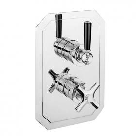 Crosswater Waldorf Black Lever 1000 Shower Valve
