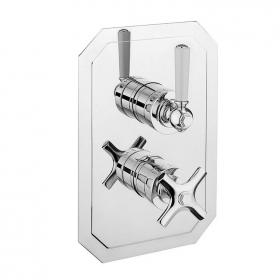 Crosswater Waldorf White Lever 1500 Shower Valve With 2 Way Diverter