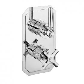 Crosswater Waldorf Chrome Lever Slimline Shower Valve With 2 Way Diverter