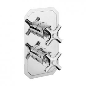 Crosswater Waldorf Chrome Crosshead Slimline Thermostatic Shower Valve