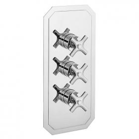 Crosswater Waldorf Chrome Crosshead 3000 Shower Valve With 3 Way Diverter