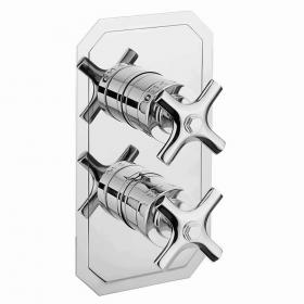 Crosswater Waldorf Crosshead Slimline Thermostatic Shower Valve With 3 Way Diverter