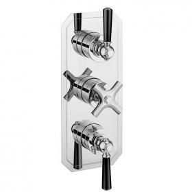 Crosswater Waldorf Black Lever 2000 Slimline Shower Valve With 2 Way Diverter
