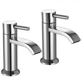The White Space Fall Basin Pillar Taps