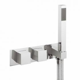 Crosswater Water Square Thermostatic Shower Valve With Handset