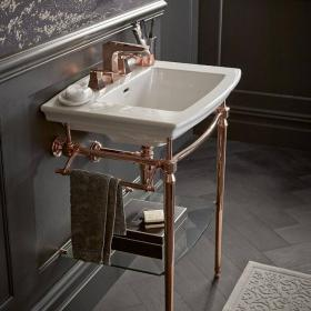 Heritage Blenheim Basin & Abingdon Rose Gold Washstand