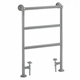 Heritage Portland Chrome Heated Towel Rail