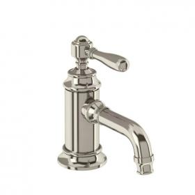 Arcade Nickel Mono Basin Mixer With Black, Nickel or White Lever