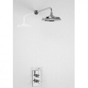 Arcade Chrome Thermostatic Shower Valve & Shower Head Pack