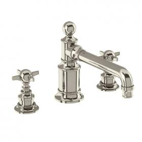 Arcade Nickel 3 Tap Hole Basin Mixer