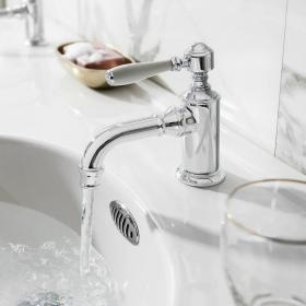 Arcade Chrome Mono Basin Mixer With Black, Chrome or White Lever Handle
