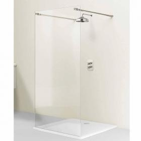 Arcade Elite Nickel 1200mm Walk-Through Shower Wetroom Screen