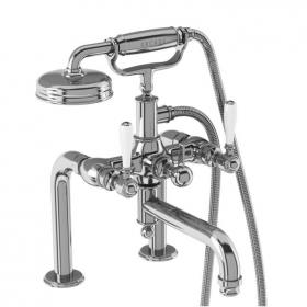 Arcade Chrome DM Bath Shower Mixer With Black, Chrome Or White Lever Handles