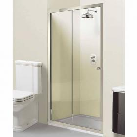 Arcade Elite Nickel Sliding Shower Door