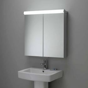 Roper Rhodes Latitude Aluminium Mirror Cabinet With Integrated Lighting