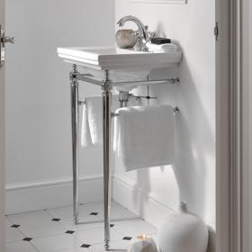 Imperial Astoria Deco Small Basin Stand with Towel Rail