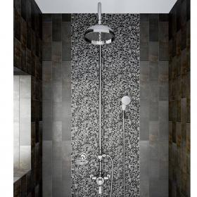 Heritage Avenbury Exposed Shower With Deluxe Fixed Riser Kit