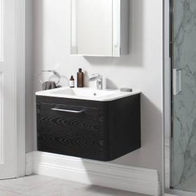 Bauhaus Celeste 800mm Black Ash Vanity Unit & Basin