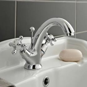 Hudson Reed Topaz Mono Basin Mixer With Dome Collars